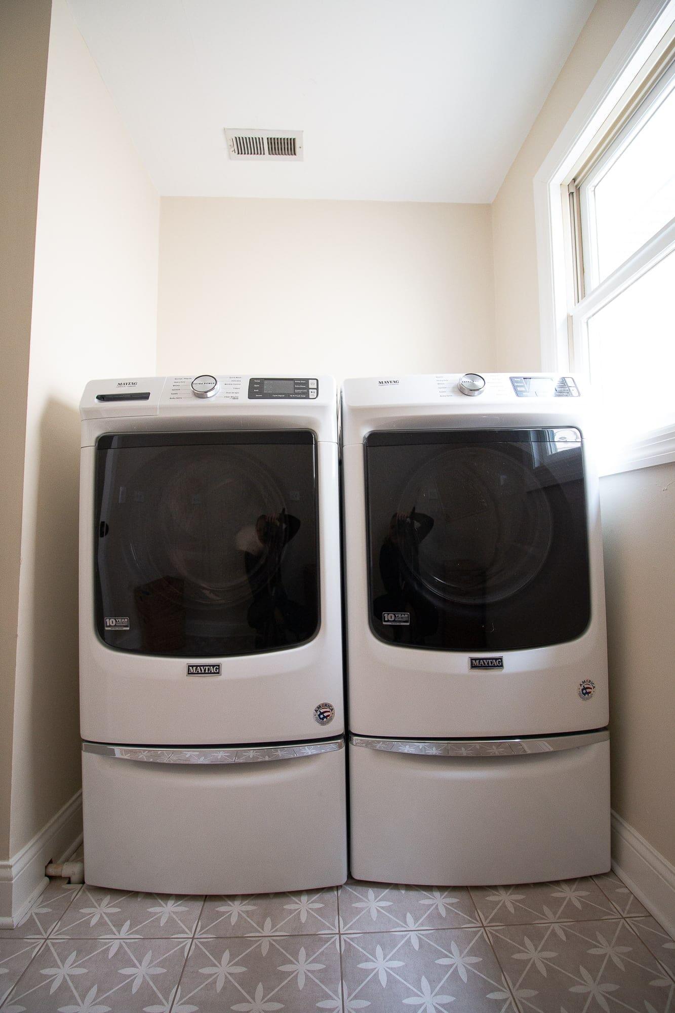 Adding pedestals under our washer and dryer