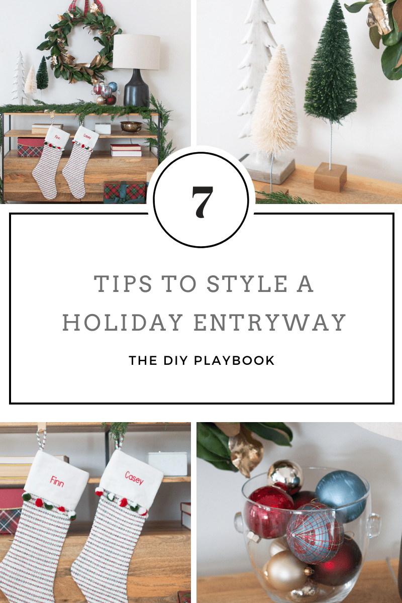 7 tips to style a holiday entry