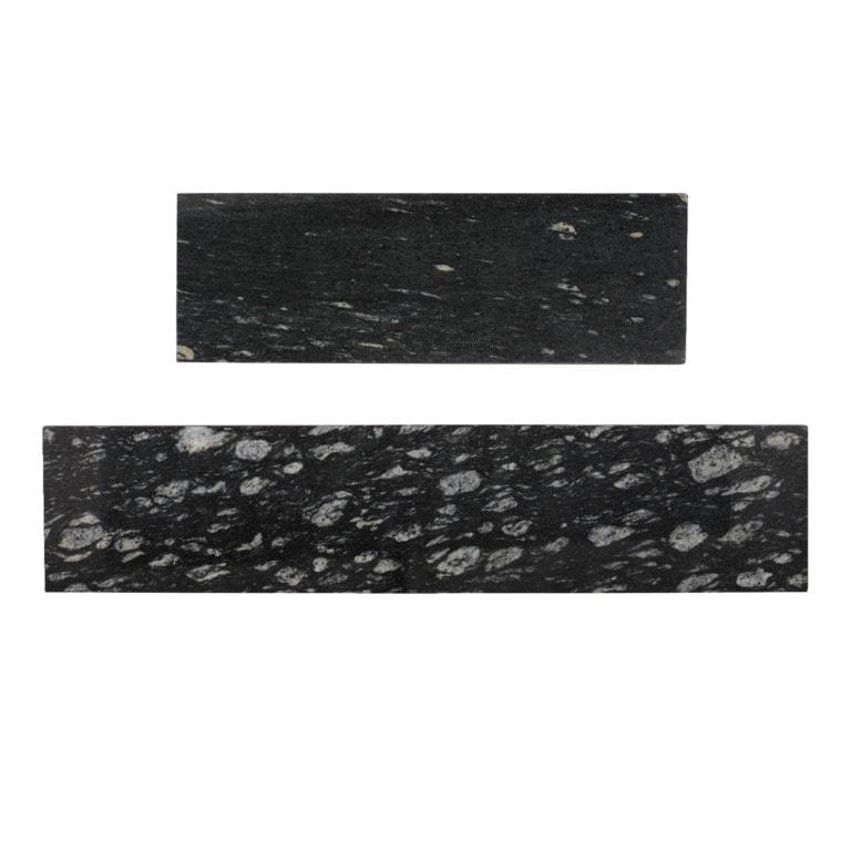 black marble shelves