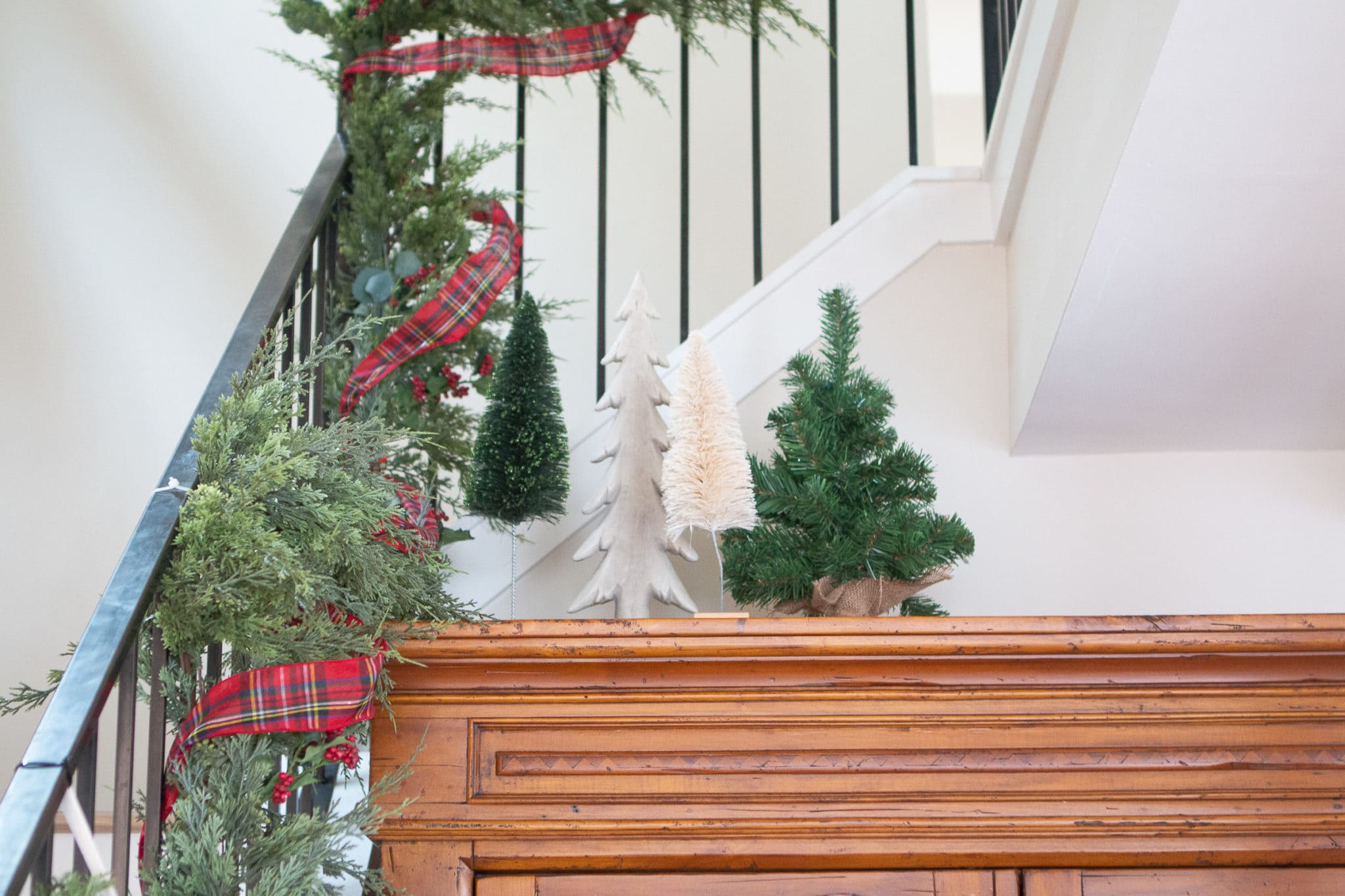 Adding Christmas trees to the top of a hutch