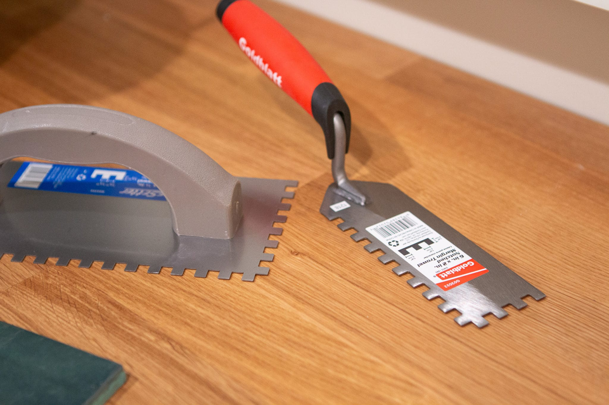 Use the right trowel size when tiling