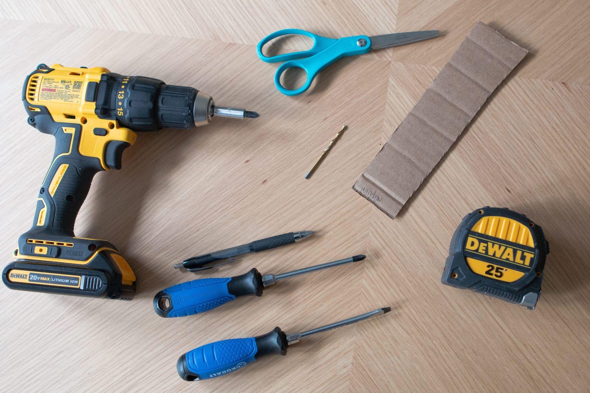 Tools when installing solar shades