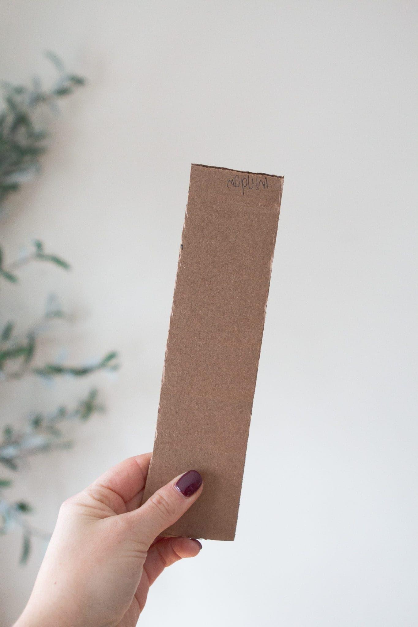Make a template using cardboard