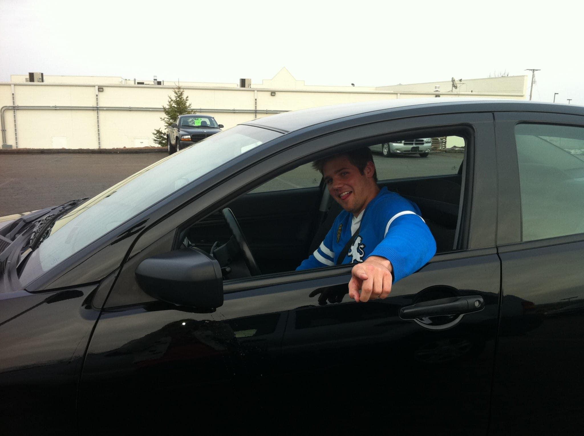 finn buying a new car