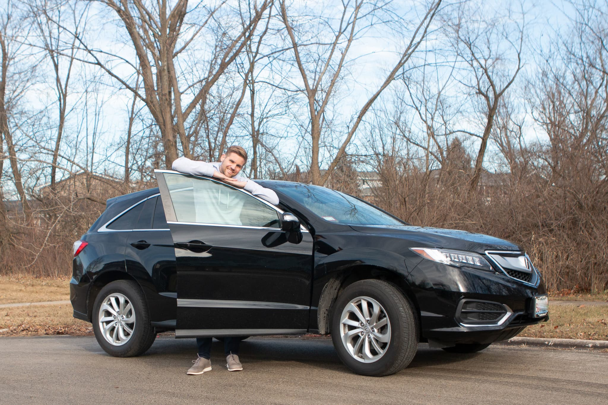 Finn and our new Acura RDX
