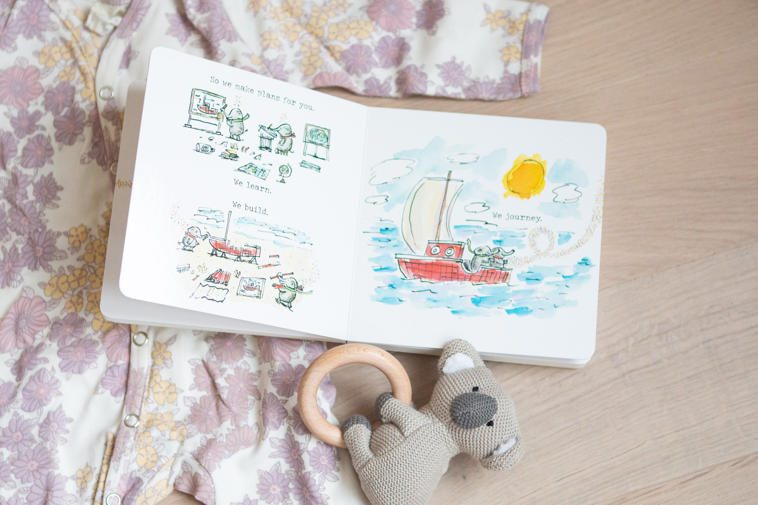 Be sure to add baby books to your registry