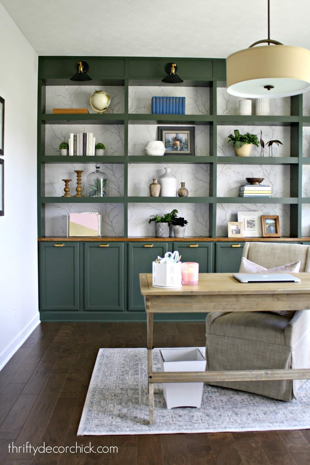 DIY built-ins plan for the home office
