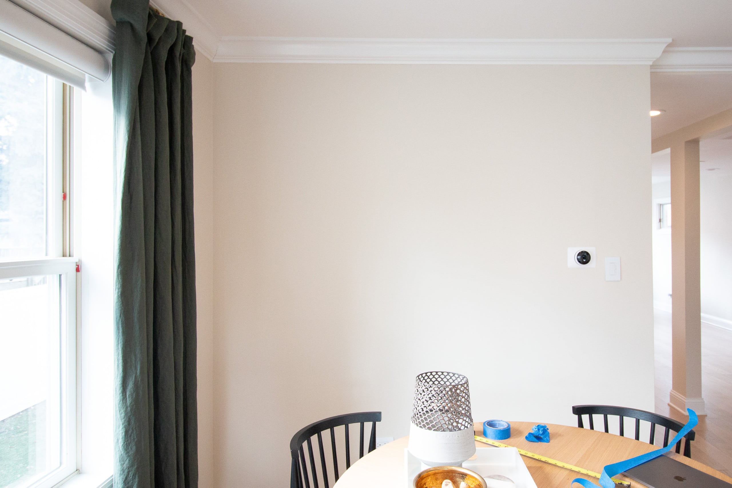 Blank wall in the living room