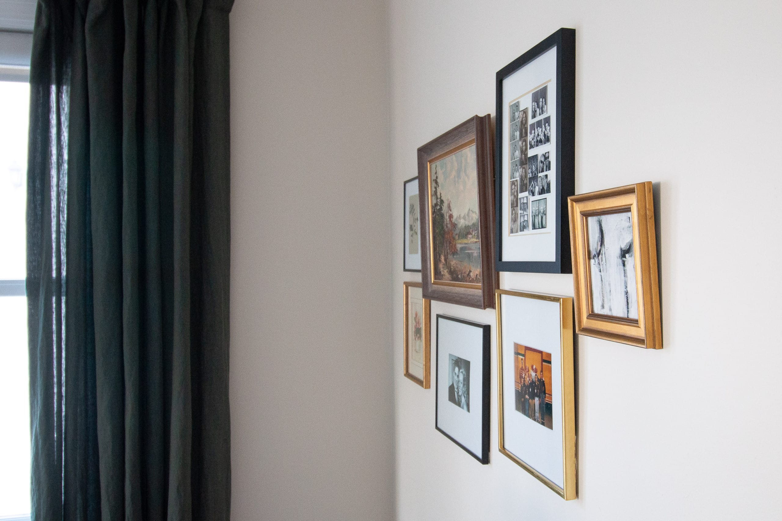 Our new living room gallery wall