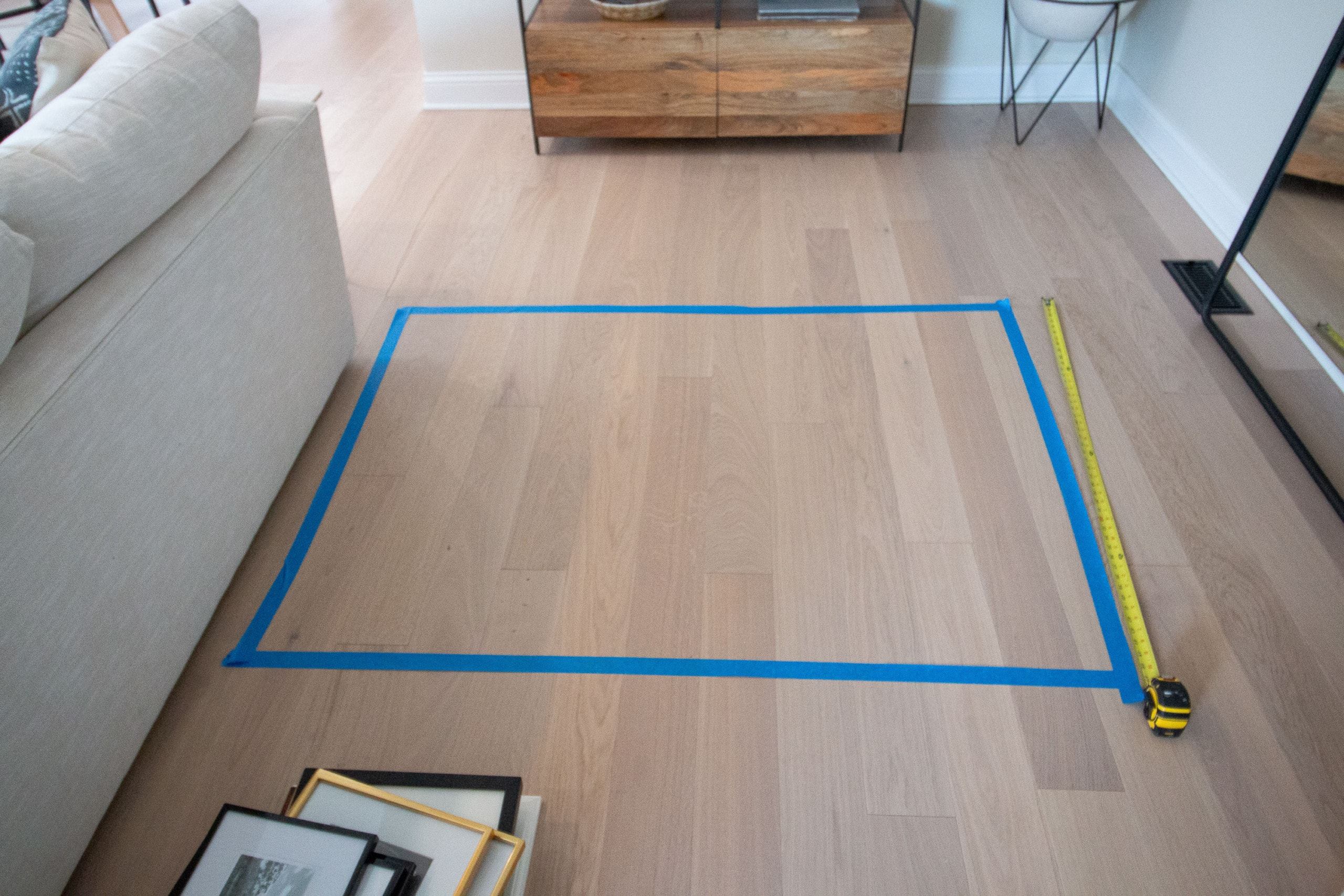Transfer your painter's tape to the floor