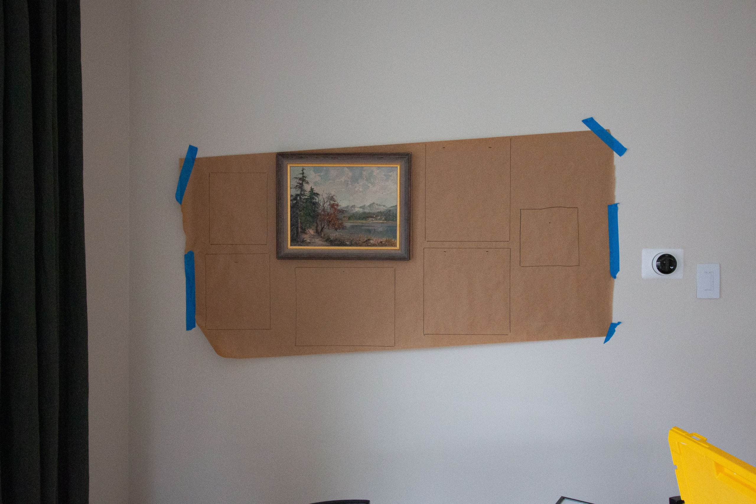 Hanging a living room gallery wall