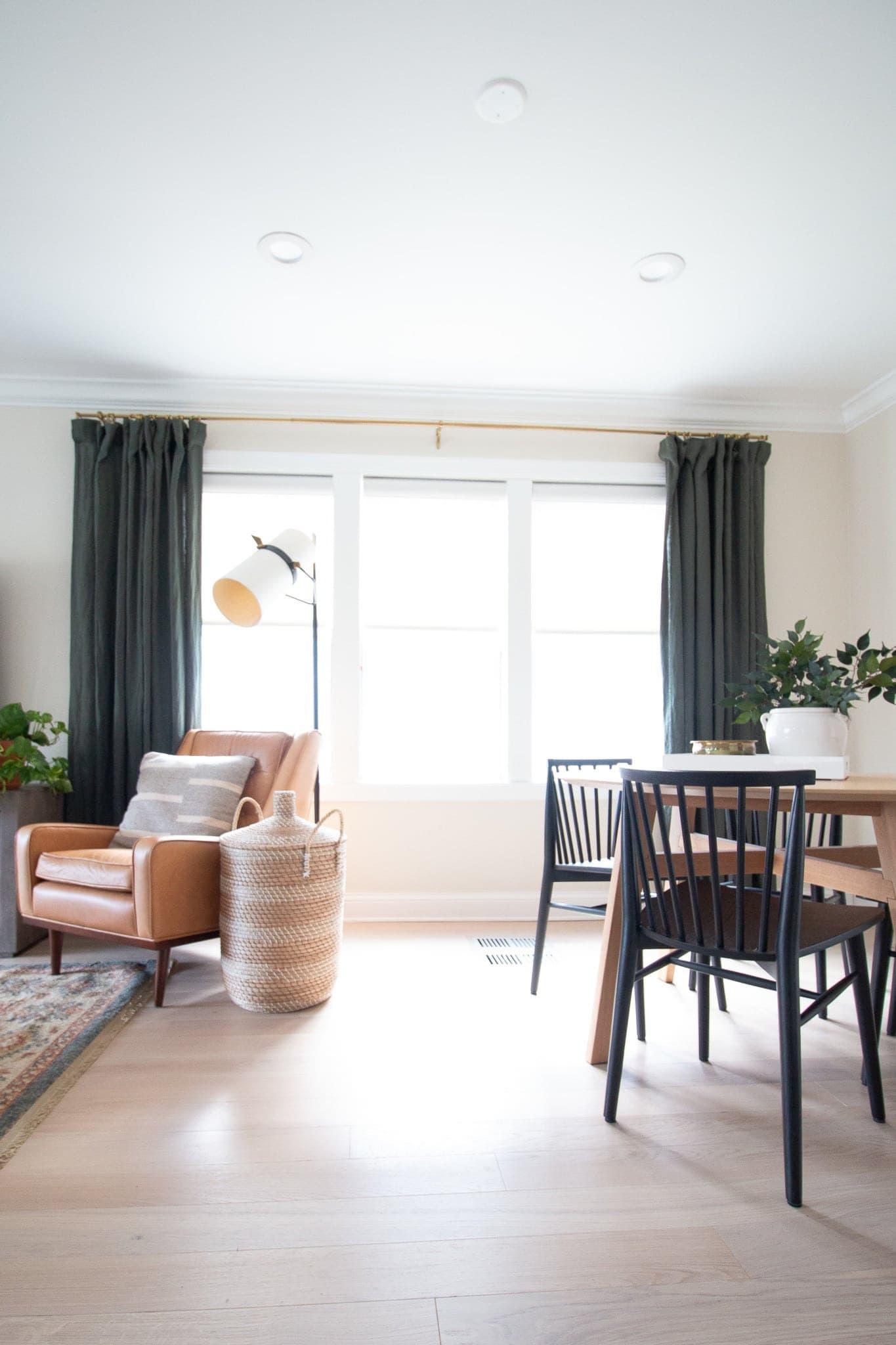 Living room window shades