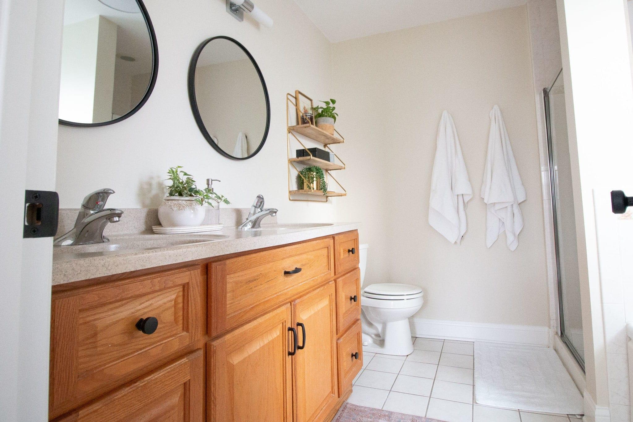 Our master bathroom