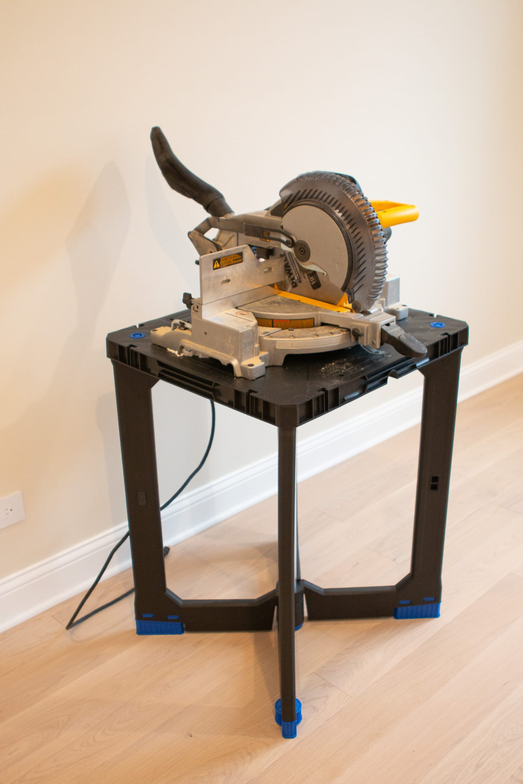 Miter saw on a stand