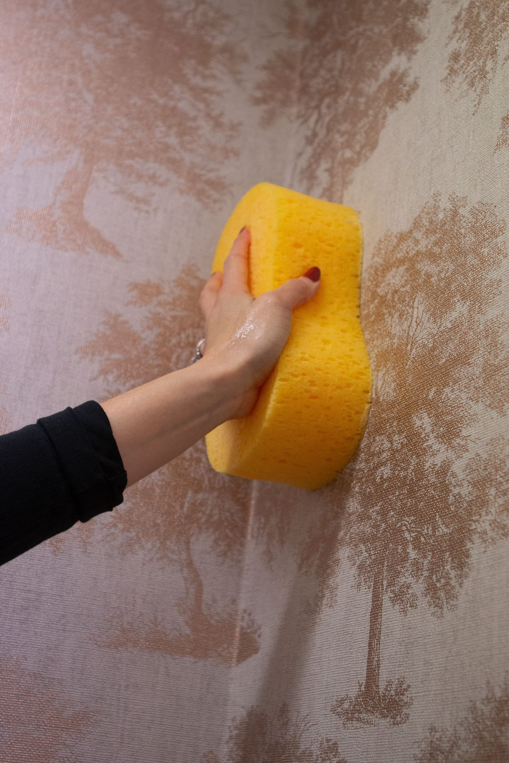 Use a sponge to get rid of excess paste