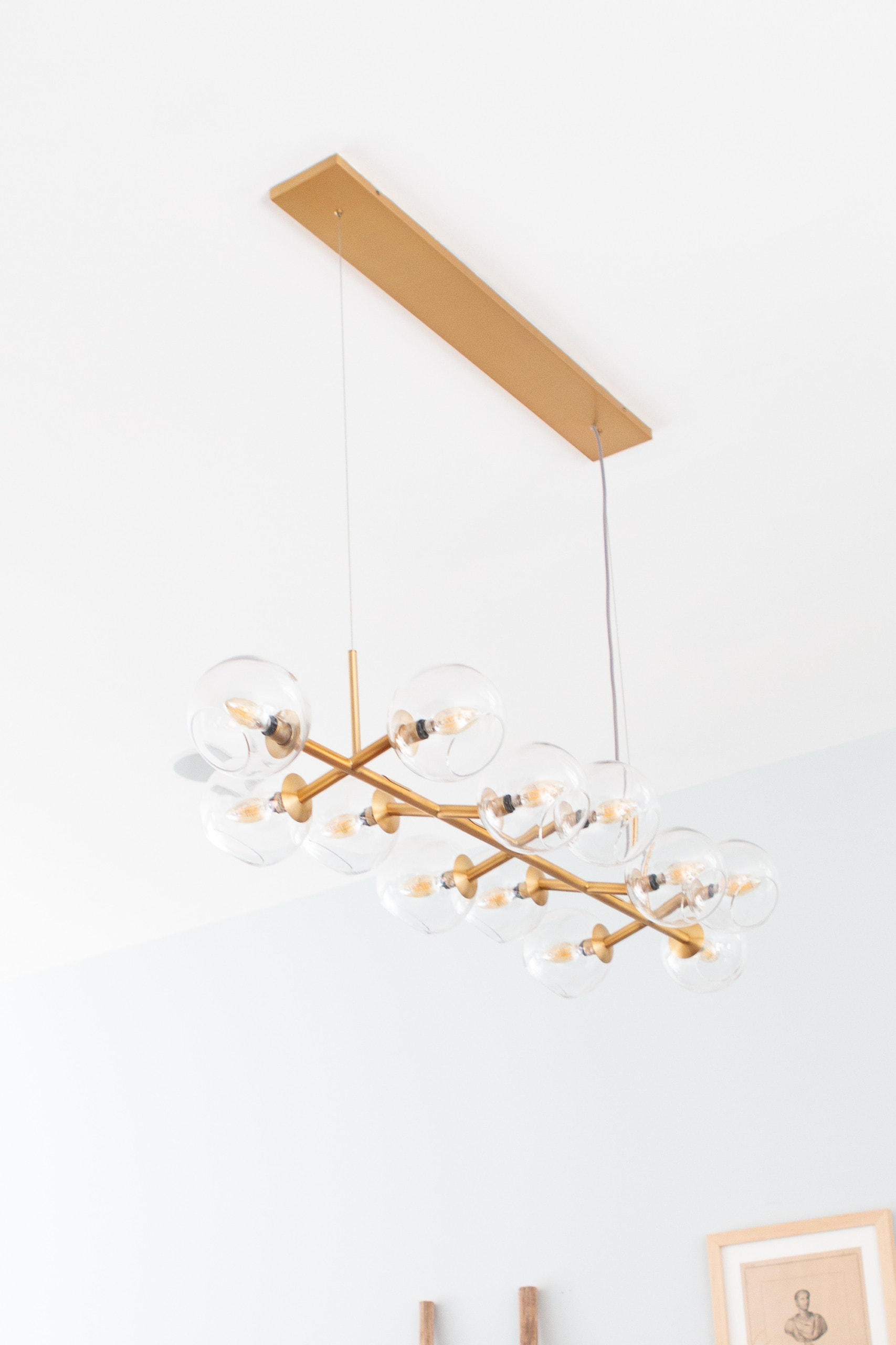Gold light fixture from West Elm