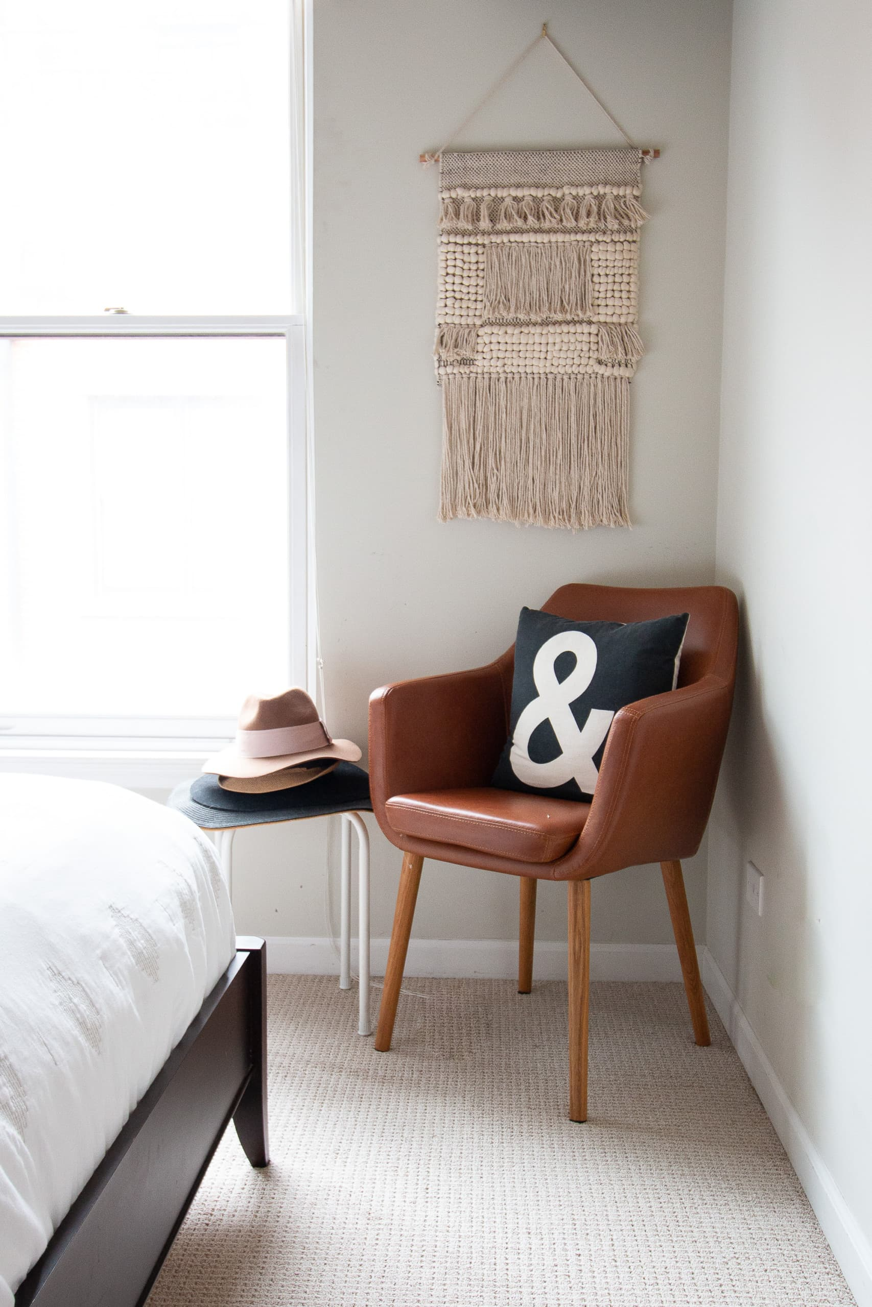 Accent chair in a guest room
