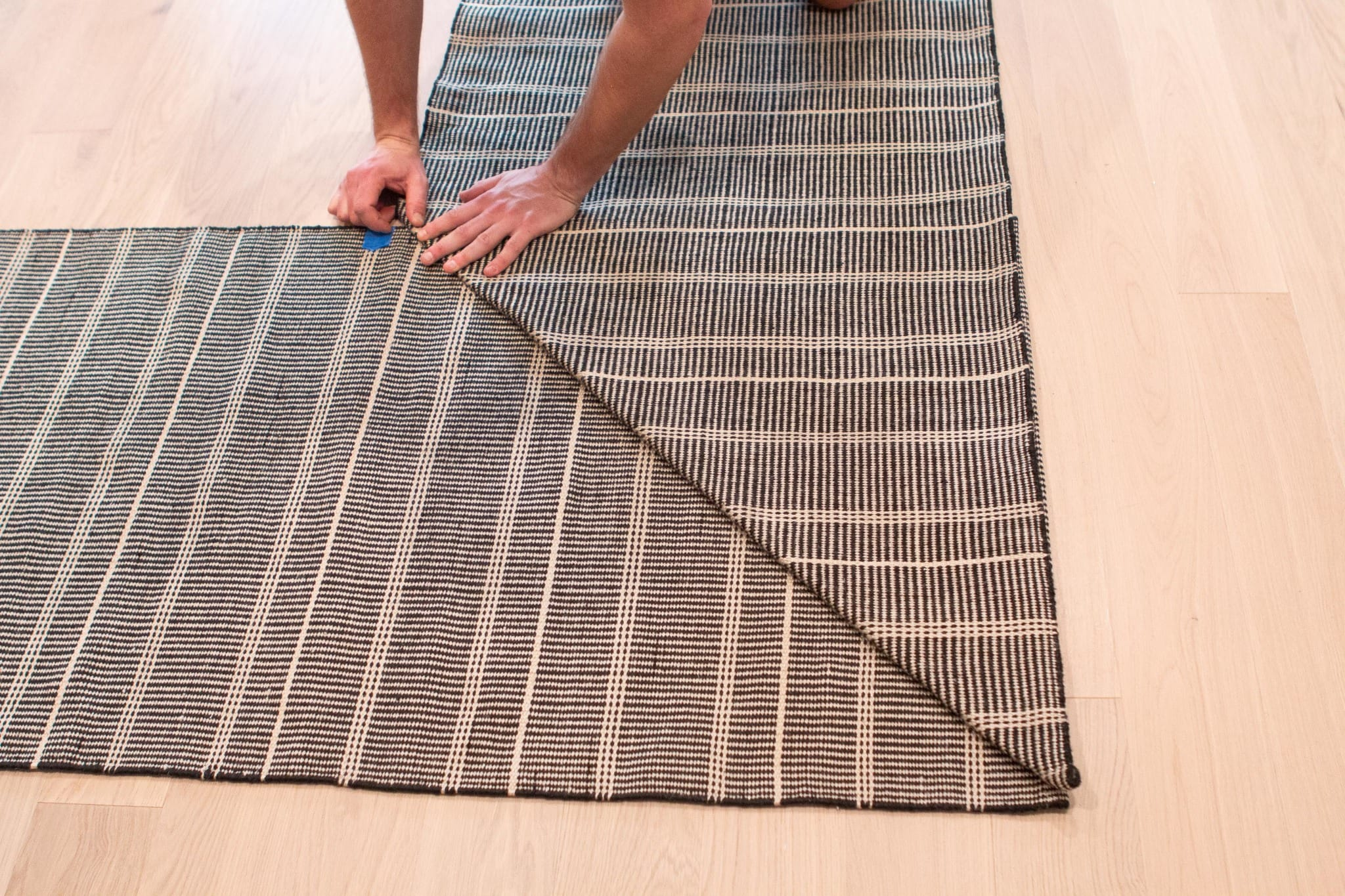 How to install a stair runner on a landing