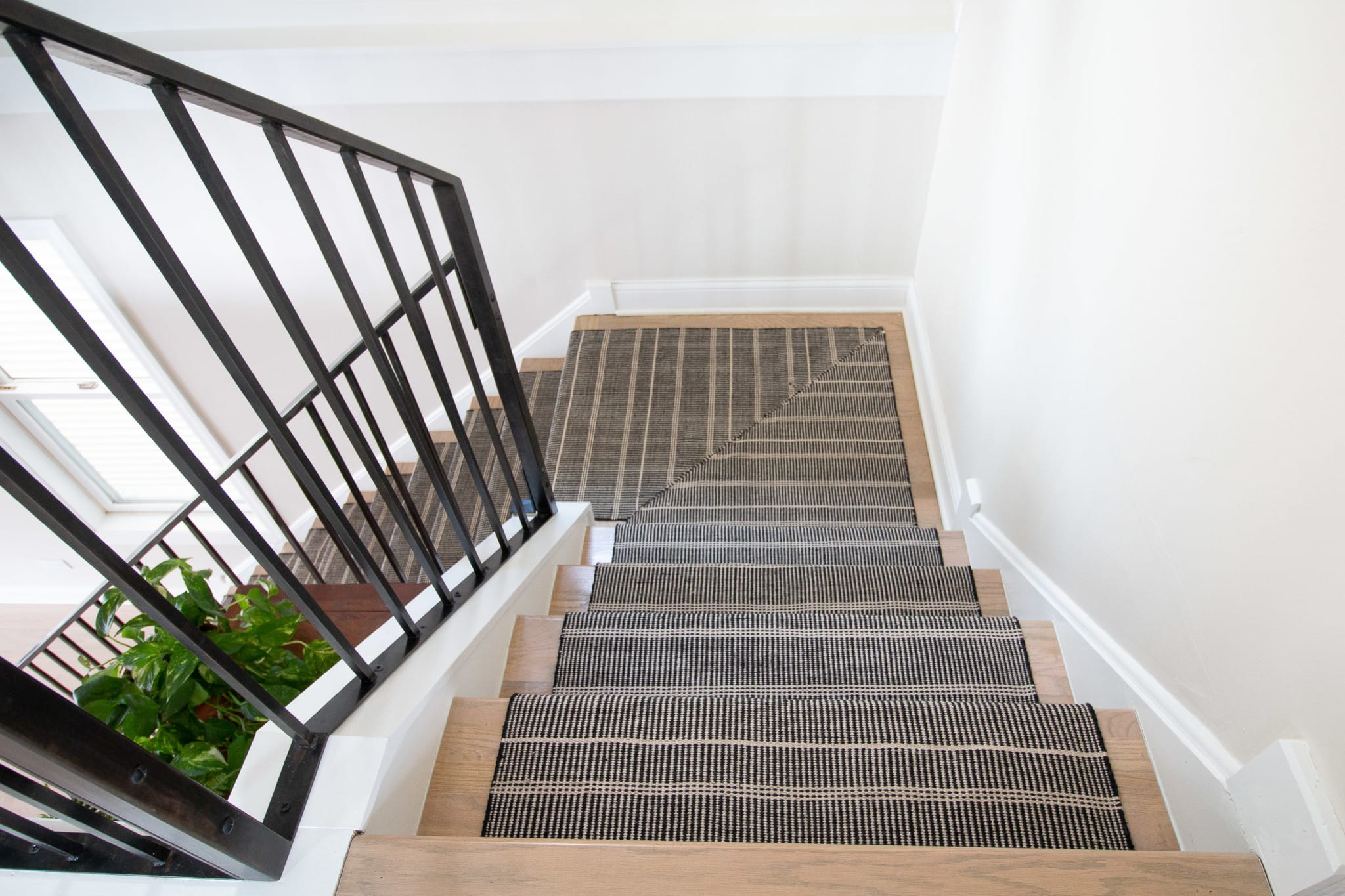 Repeat the same steps on the remainder of the stairs