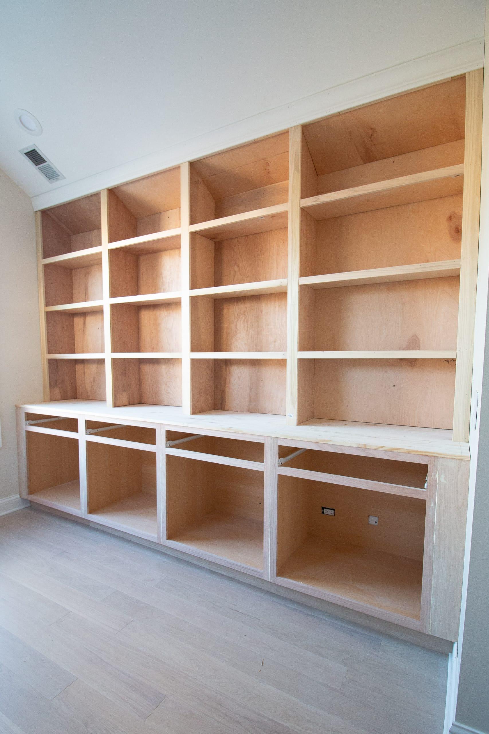 Wood built-ins