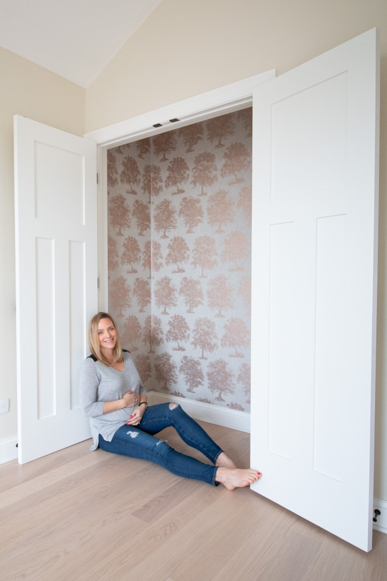 How to wallpaper a closet