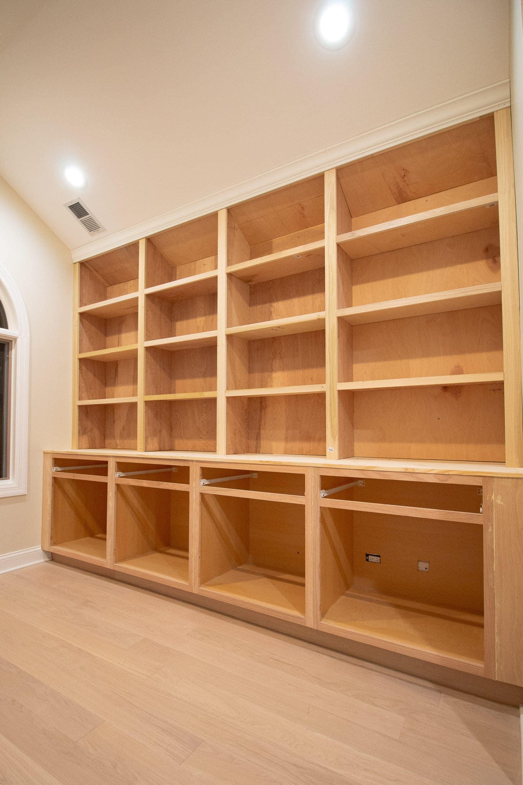 How to DIY bookshelves for built-ins