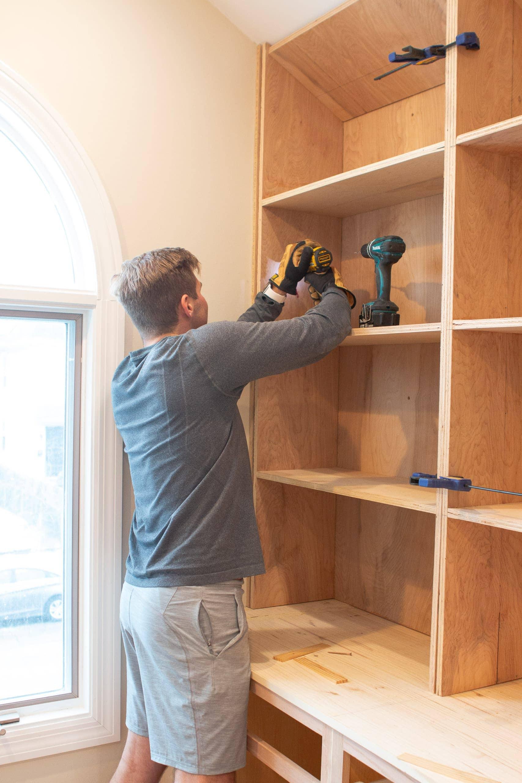 Secure DIY bookshelves together