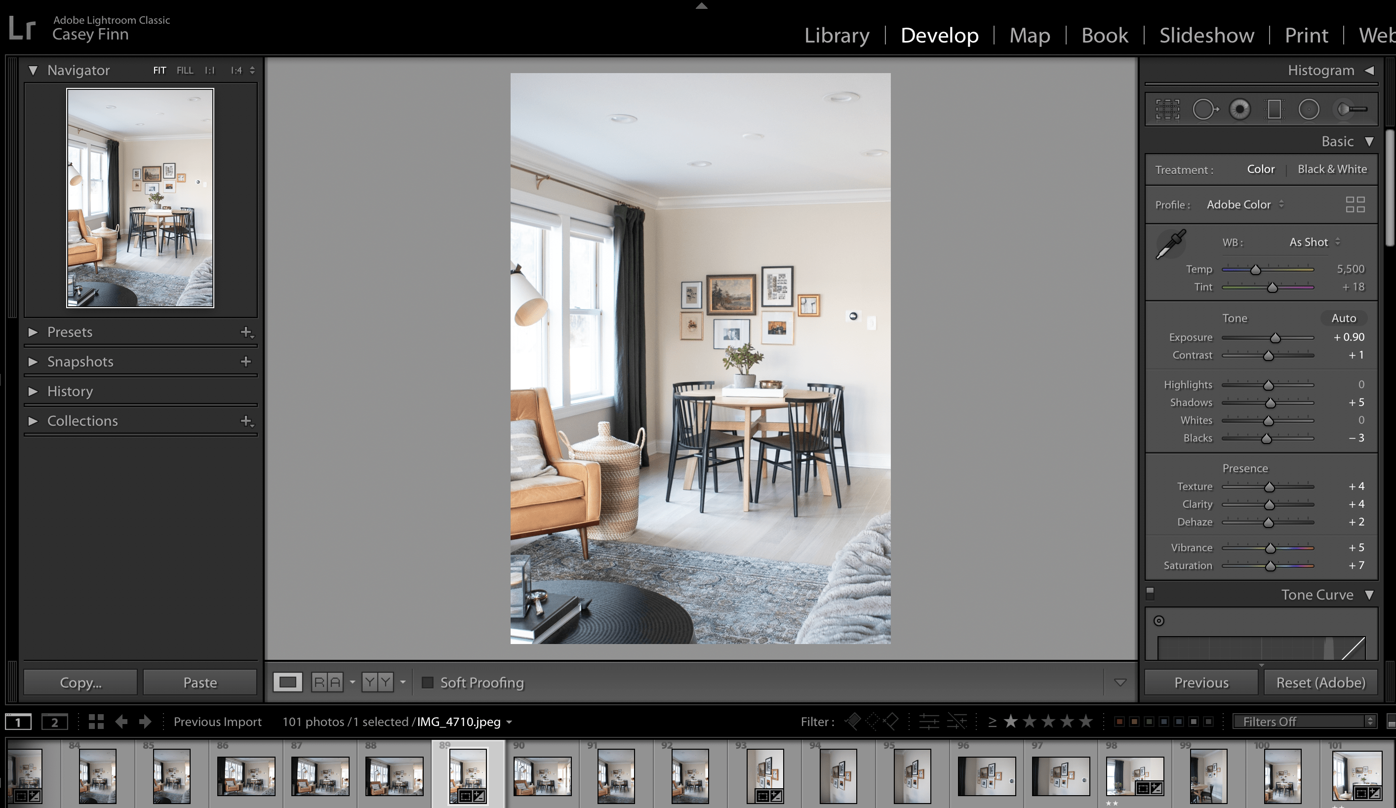 how to edit with adobe lightroom
