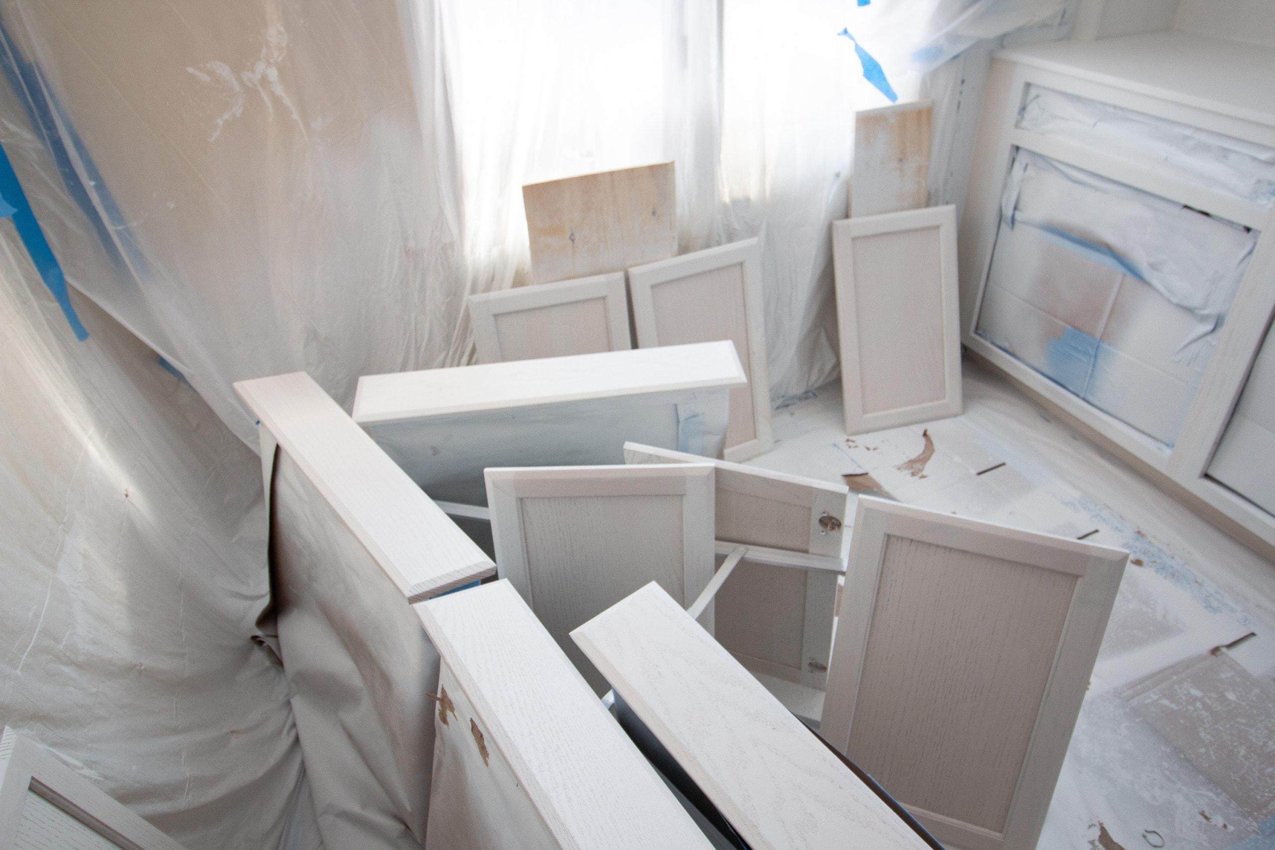 Painting DIY Built-ins
