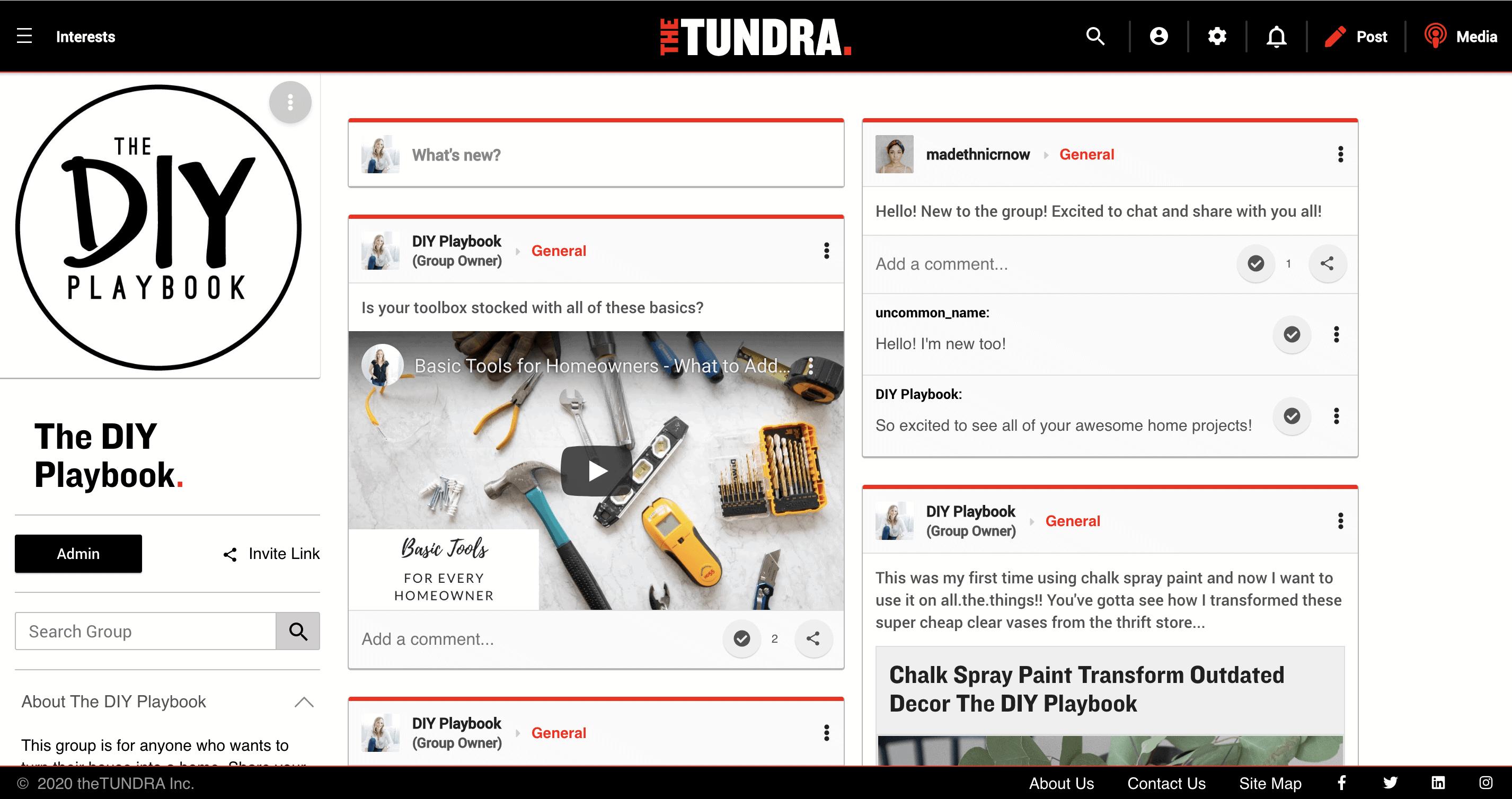 The tundra DIY Playbook group