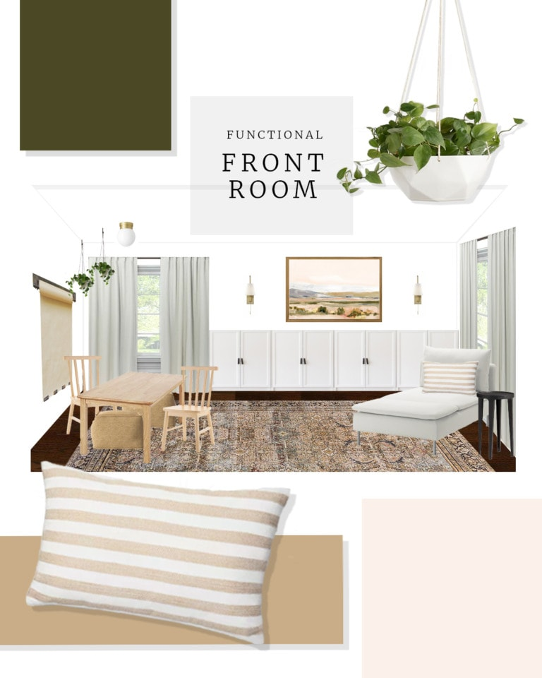 Creating a functional front room