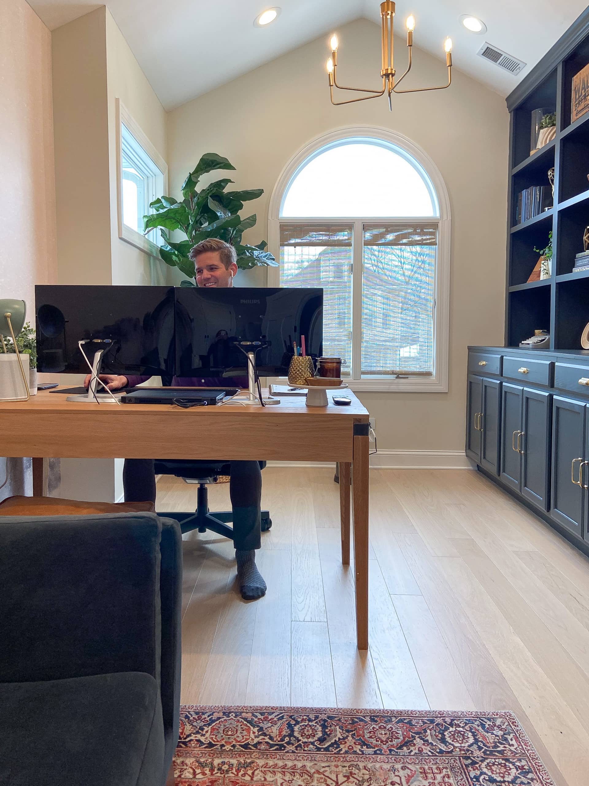 Finn working from home