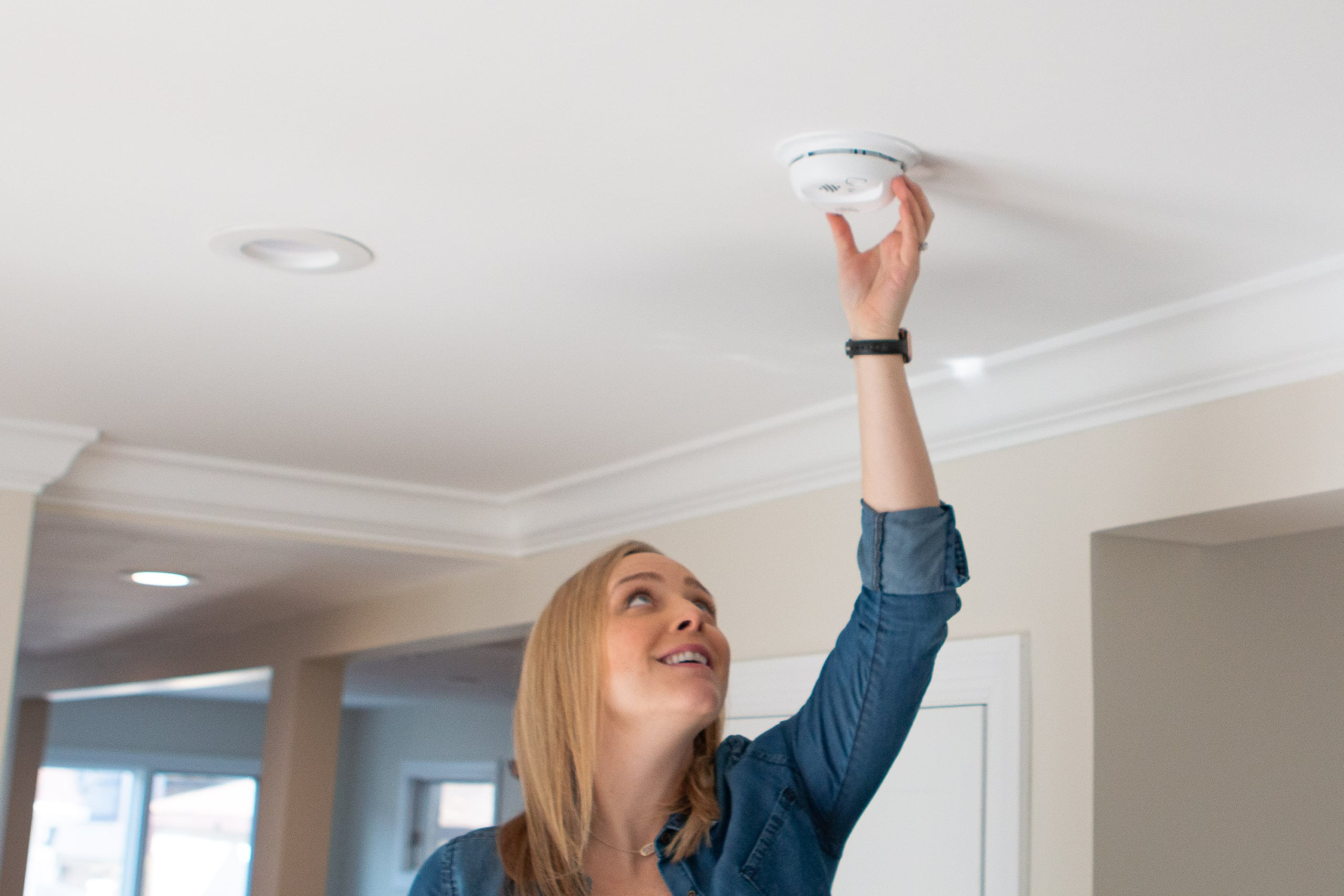 Change the batteries in your smoke detector for spring maintenance