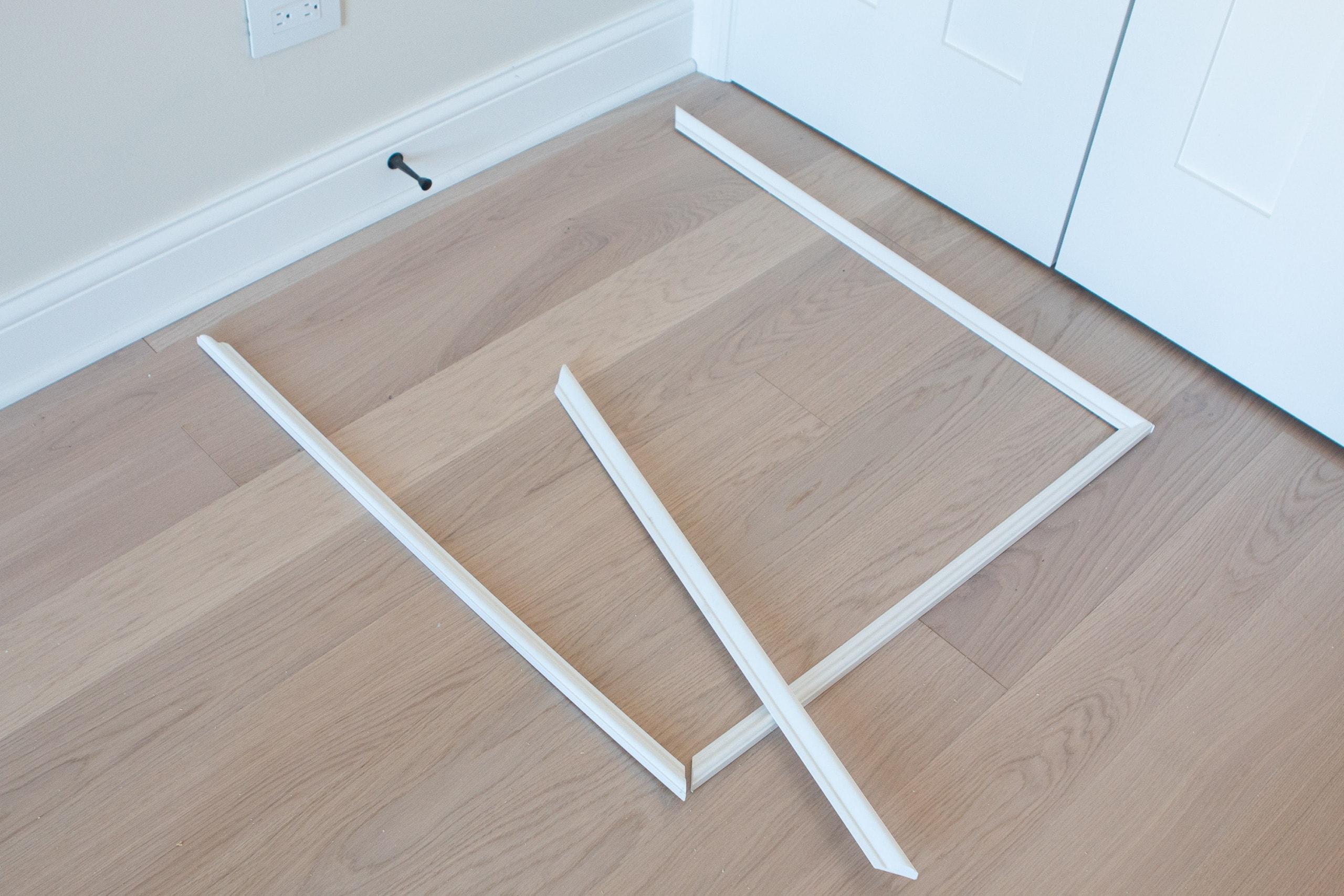 PVC molding to make chair rail