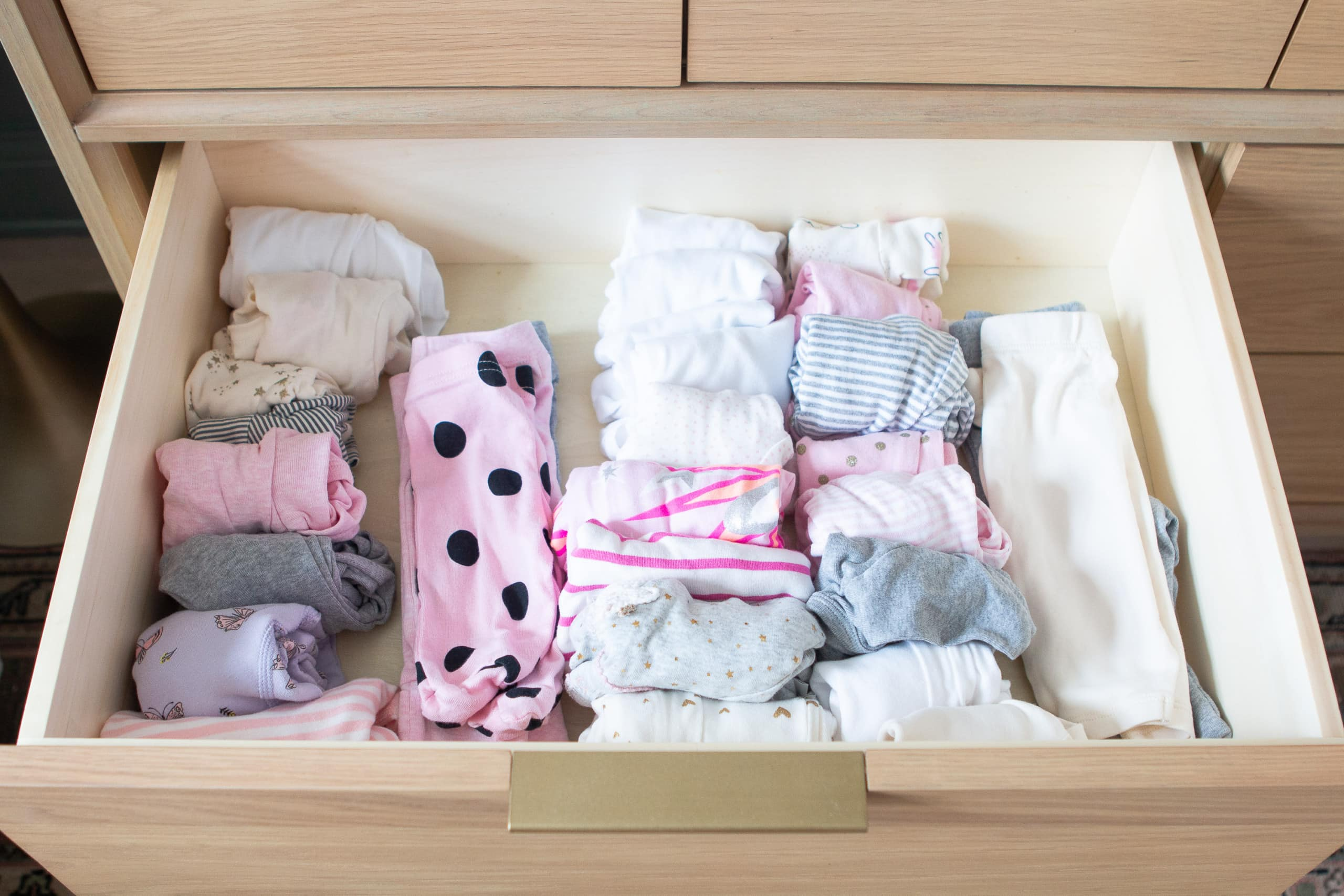 Organizing nursery drawers