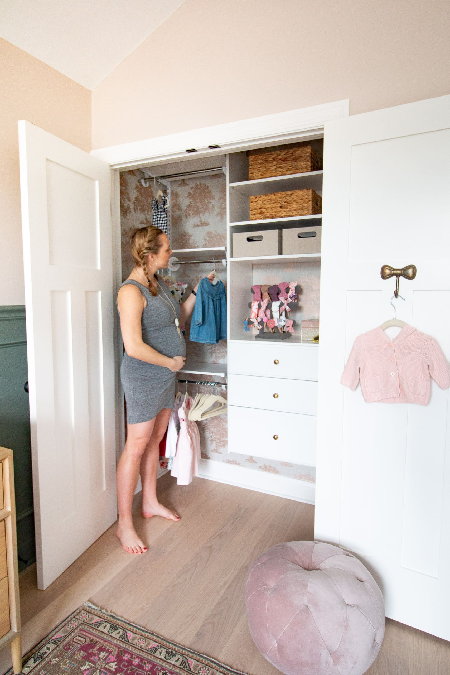 How to DIY an organized nursery closet