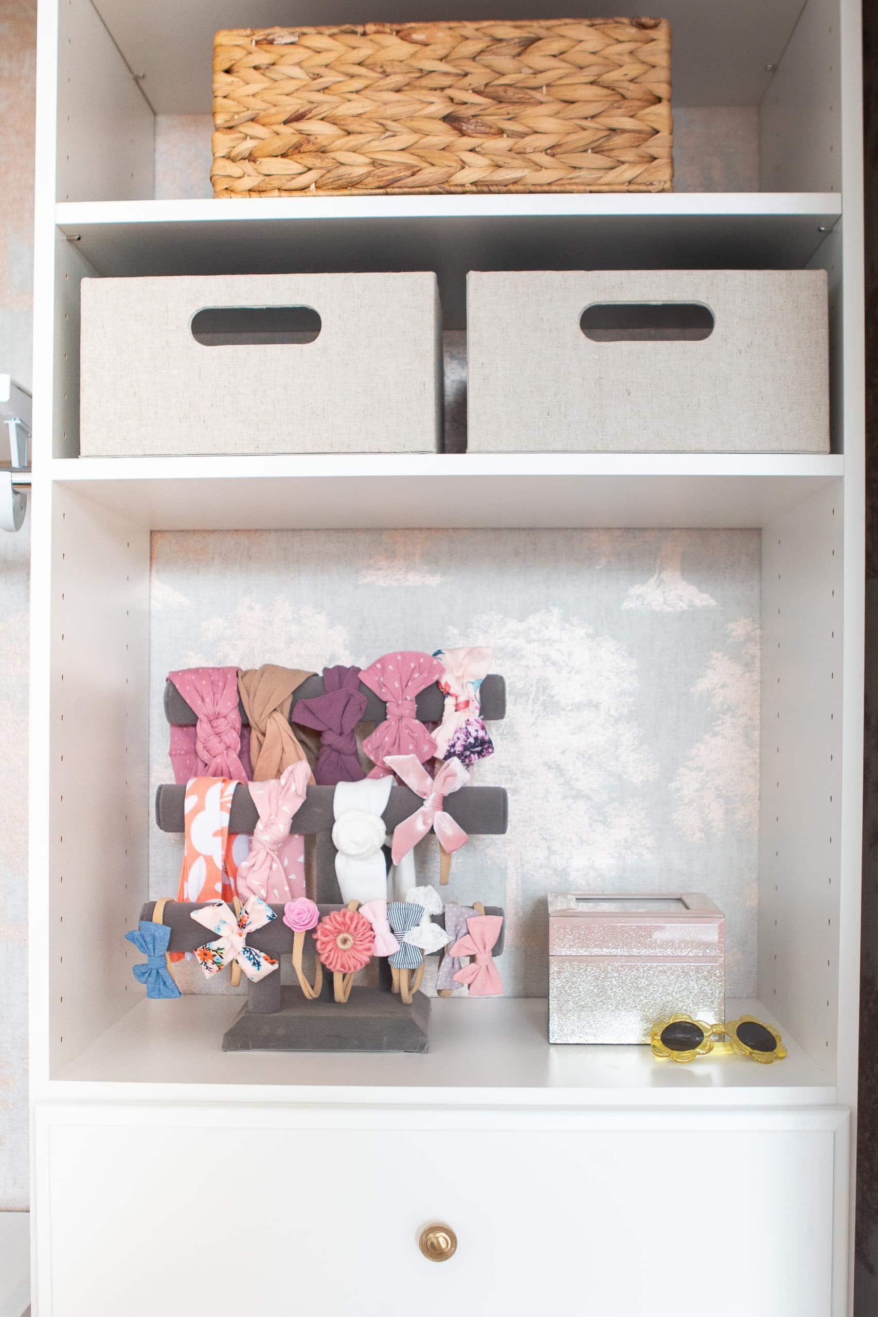 Organizing a nursery closet