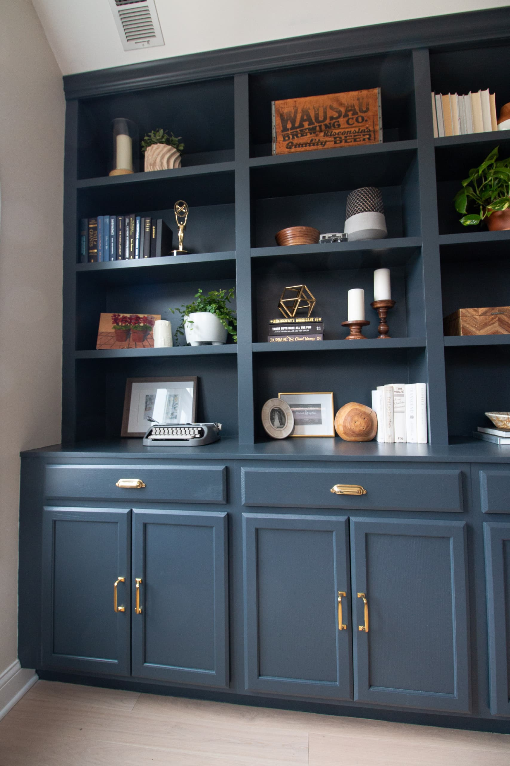Diy Office Built Ins With Storage The
