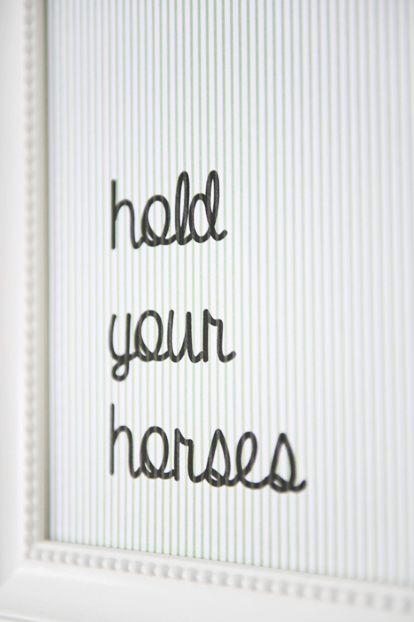 Hold your horses art print