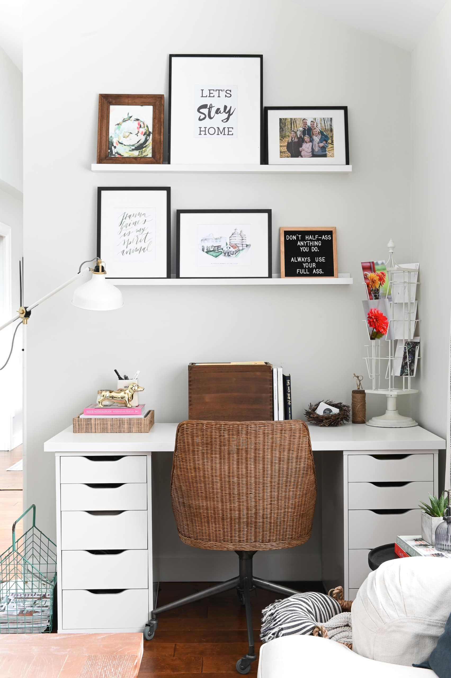 IKEA desk station