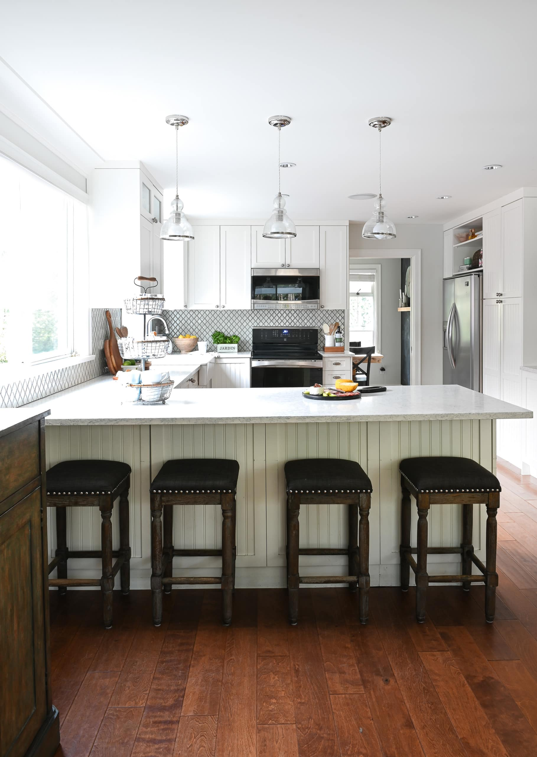 Kerri's Vancouver home with white kitchen