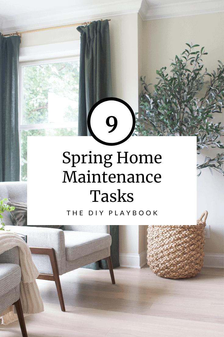 spring home maintenance tasks