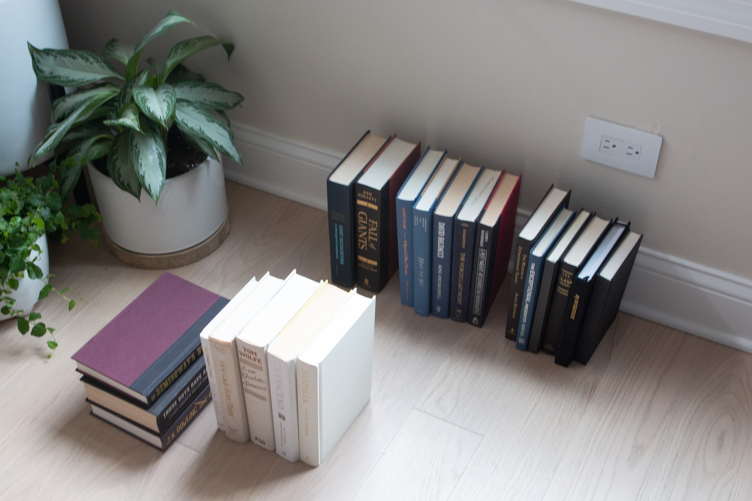 Gather all of your hardcover books together