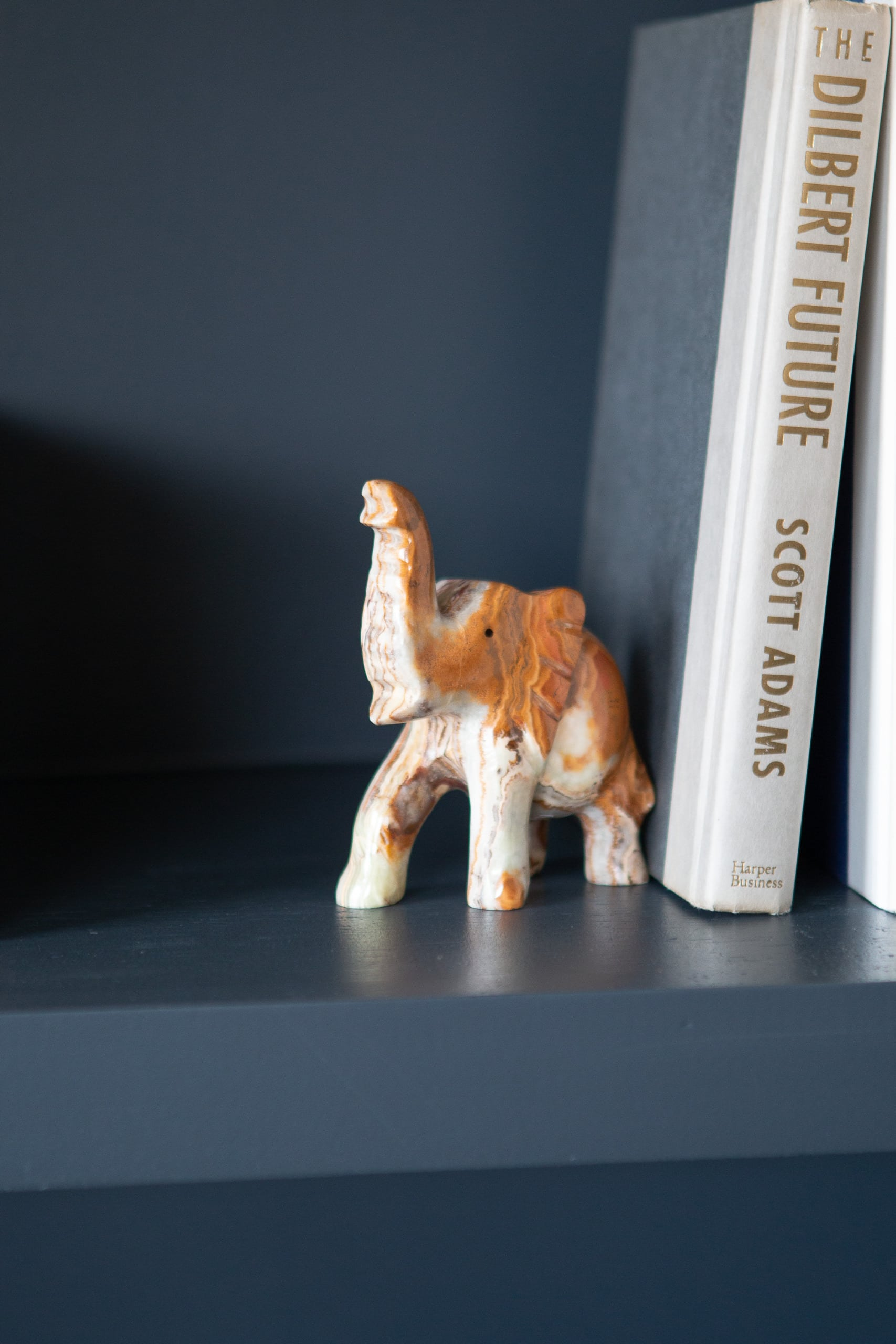 Small elephant bookend