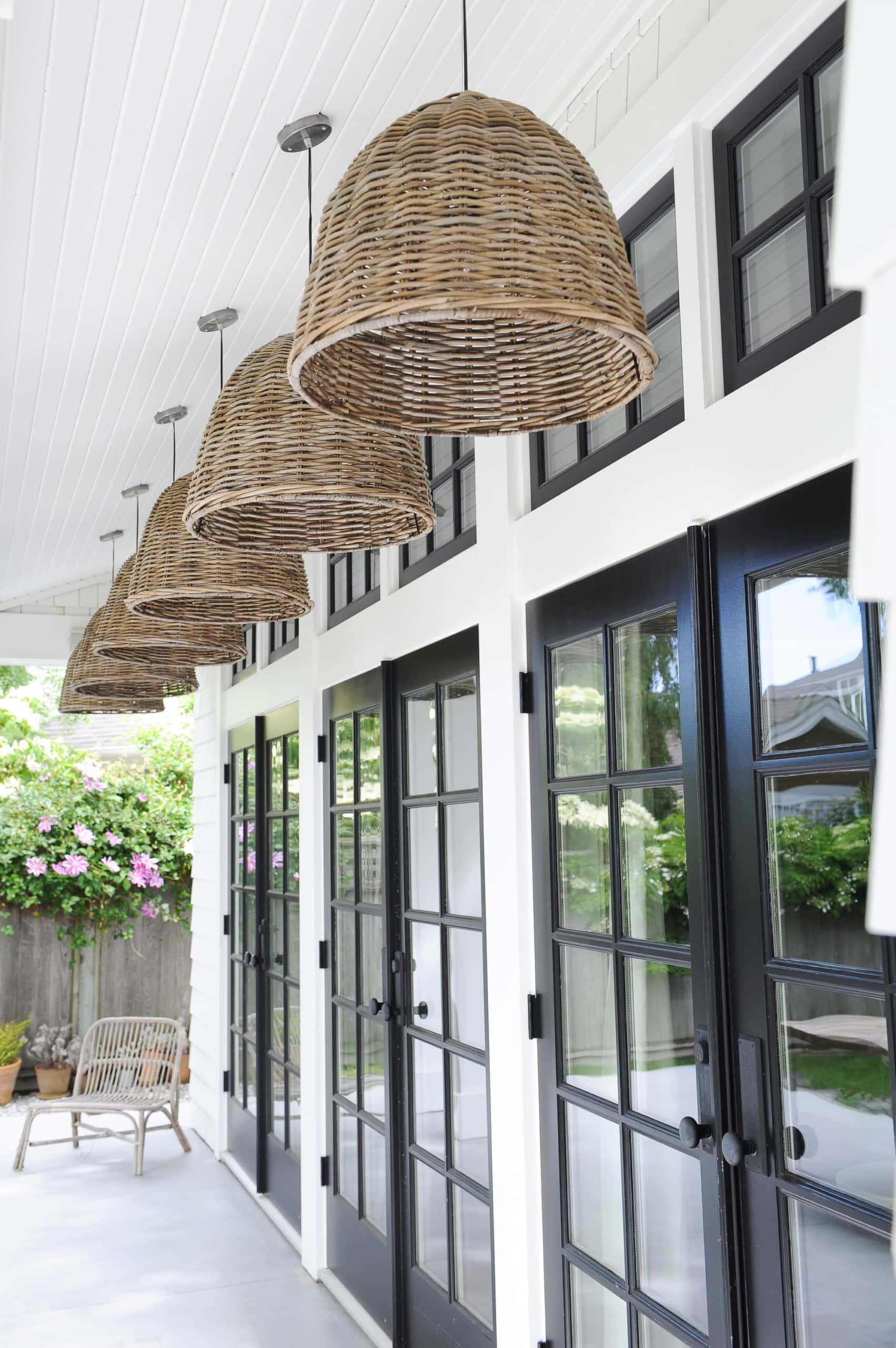 Hanging pendants outdoors