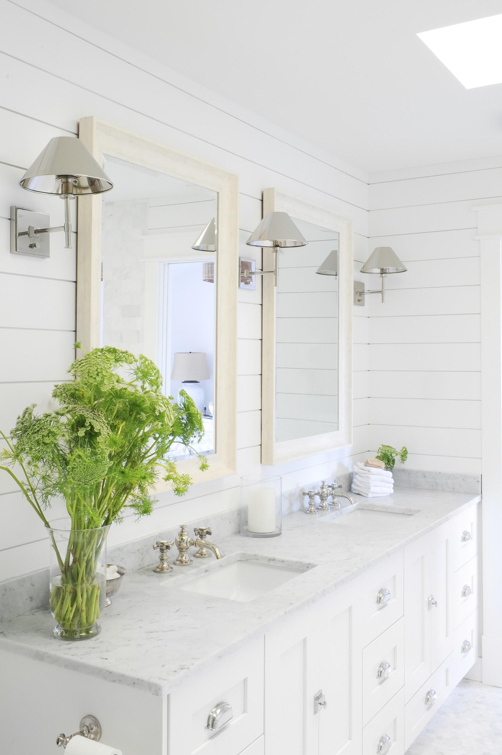 Shiplap in a master bathroom
