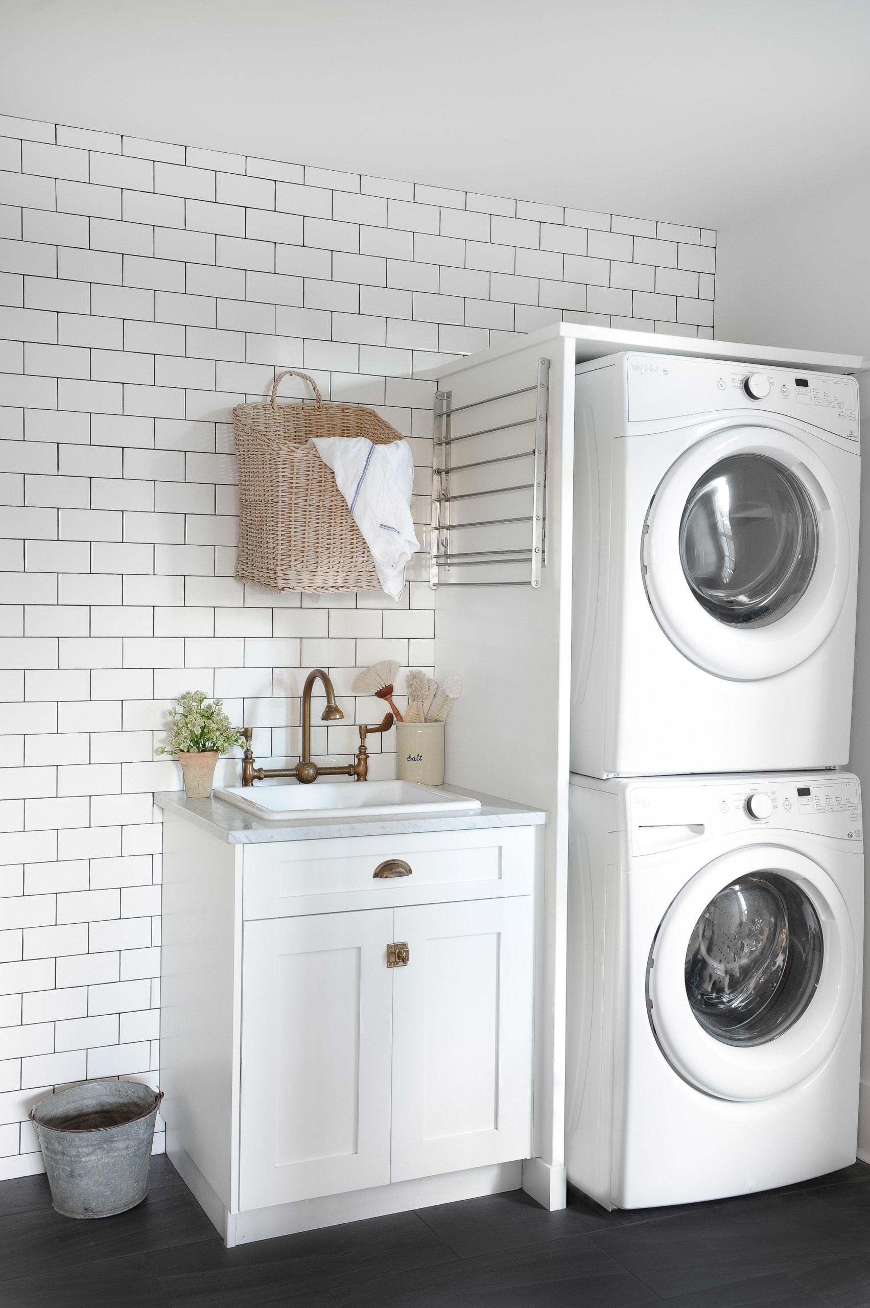 Cute laundry setup in a beach house