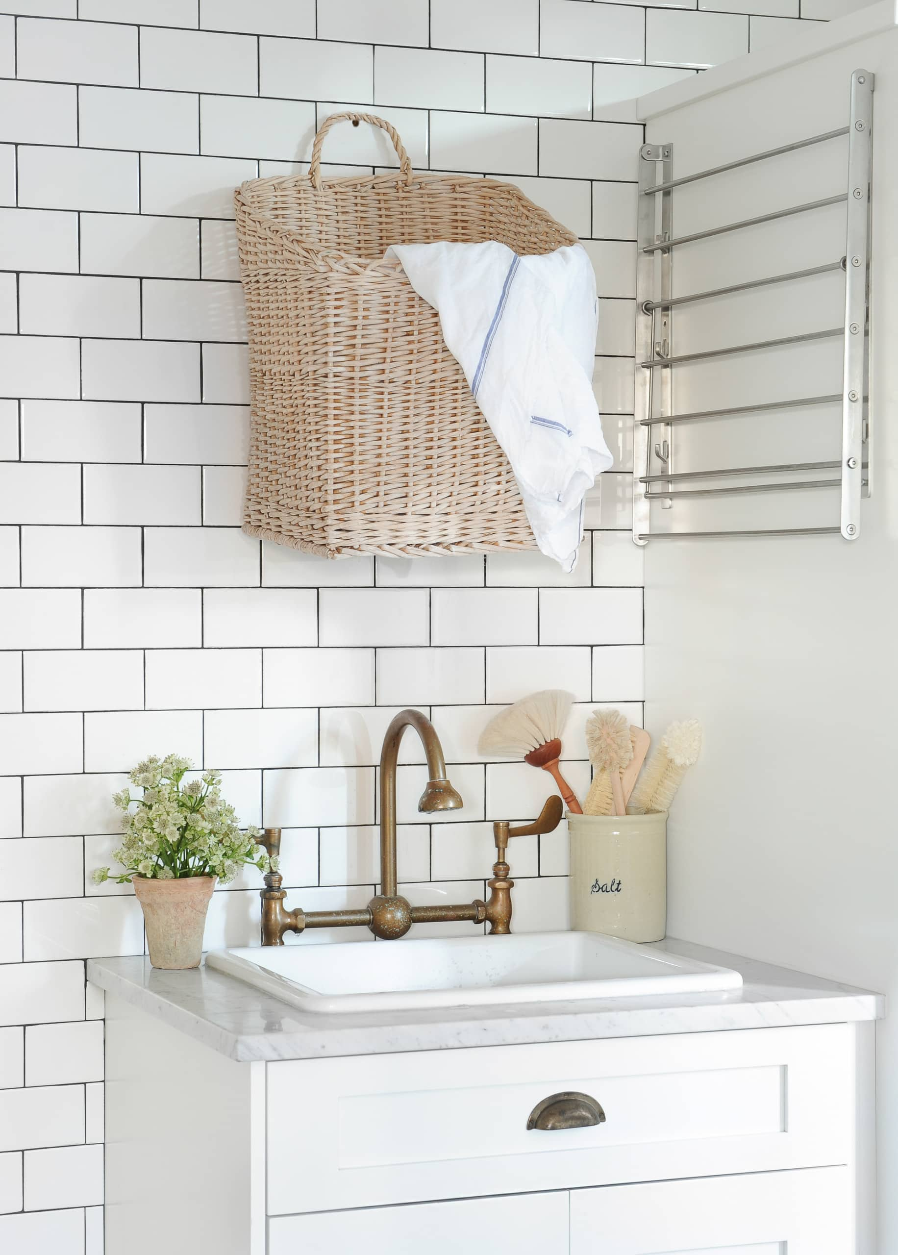 Sink in a laundry room