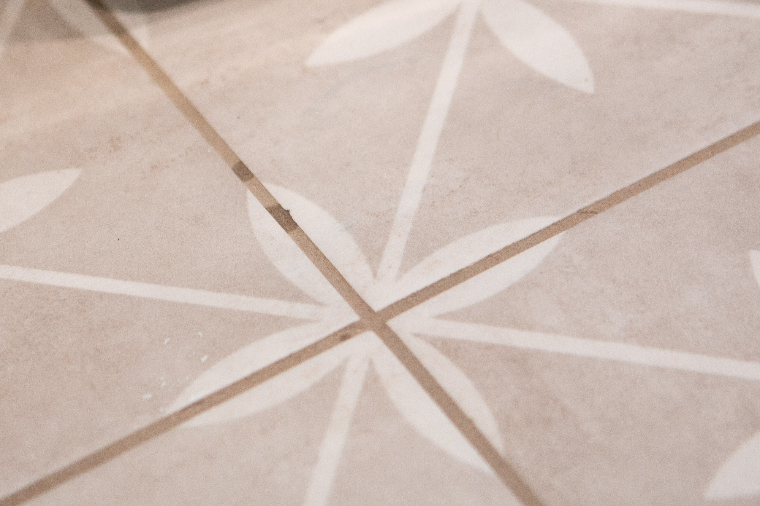 Stained laundry room grout