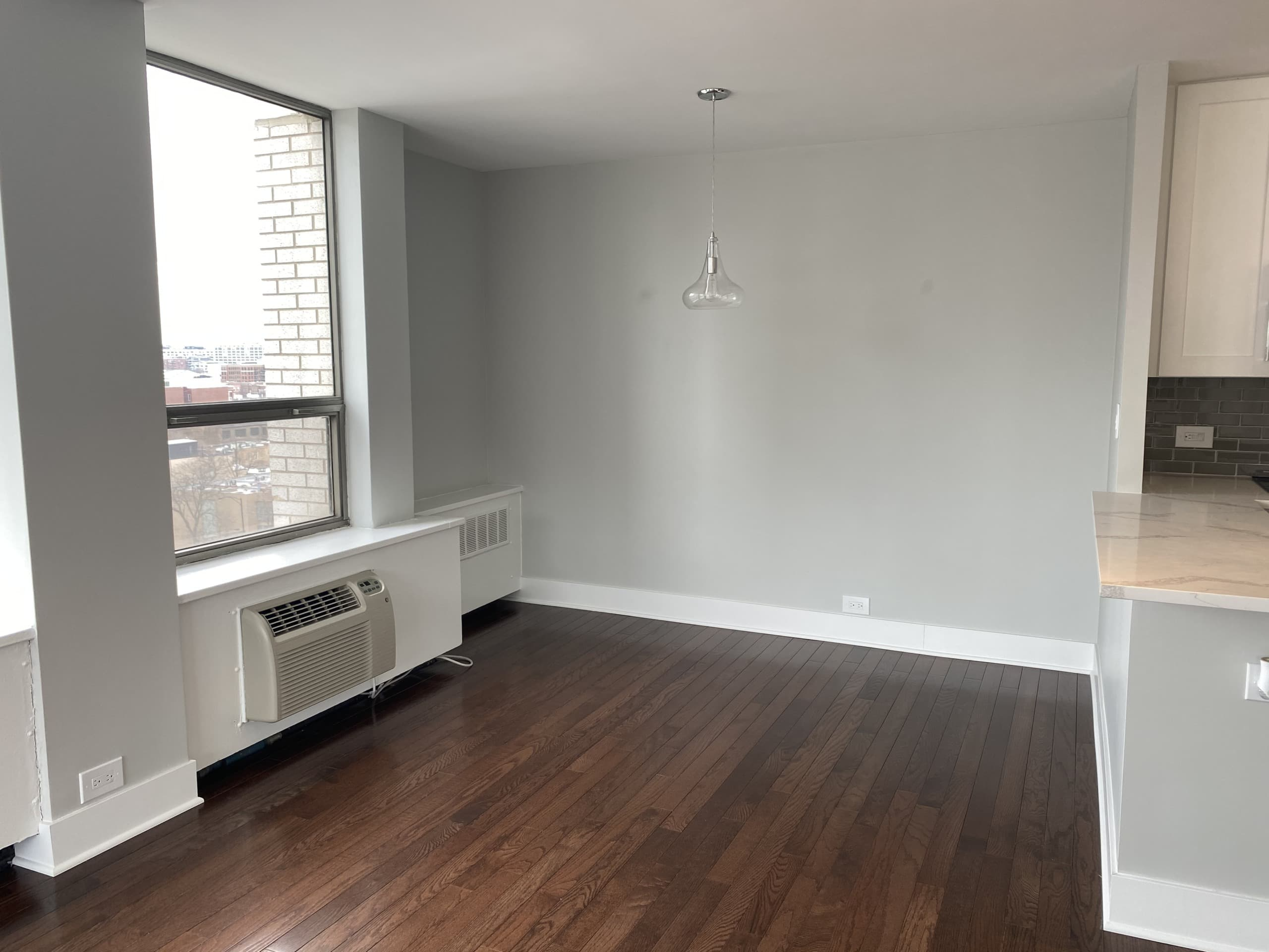 Empty dining room in a condo